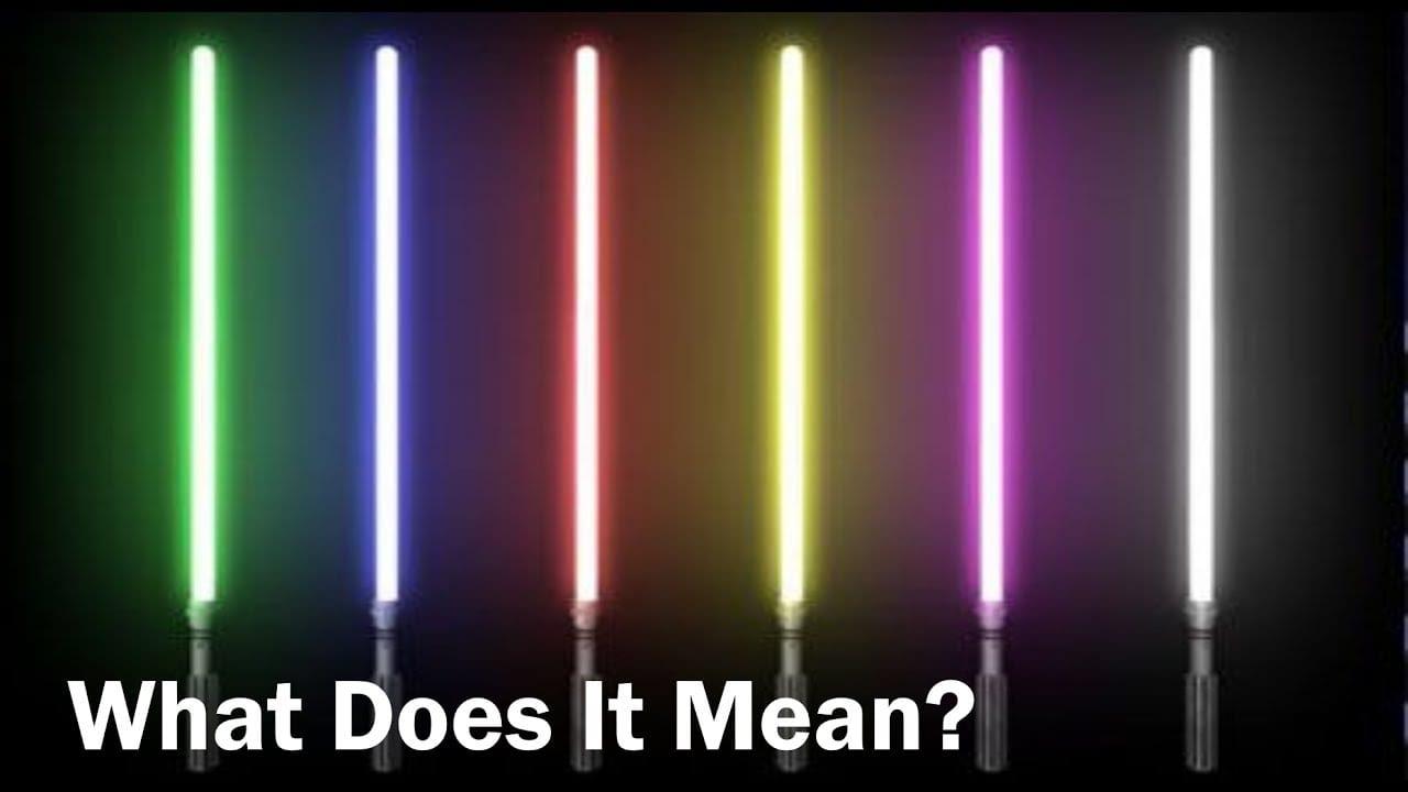▷ Entonces, ¿cuál es el trato con los colores del sable de luz de ...
