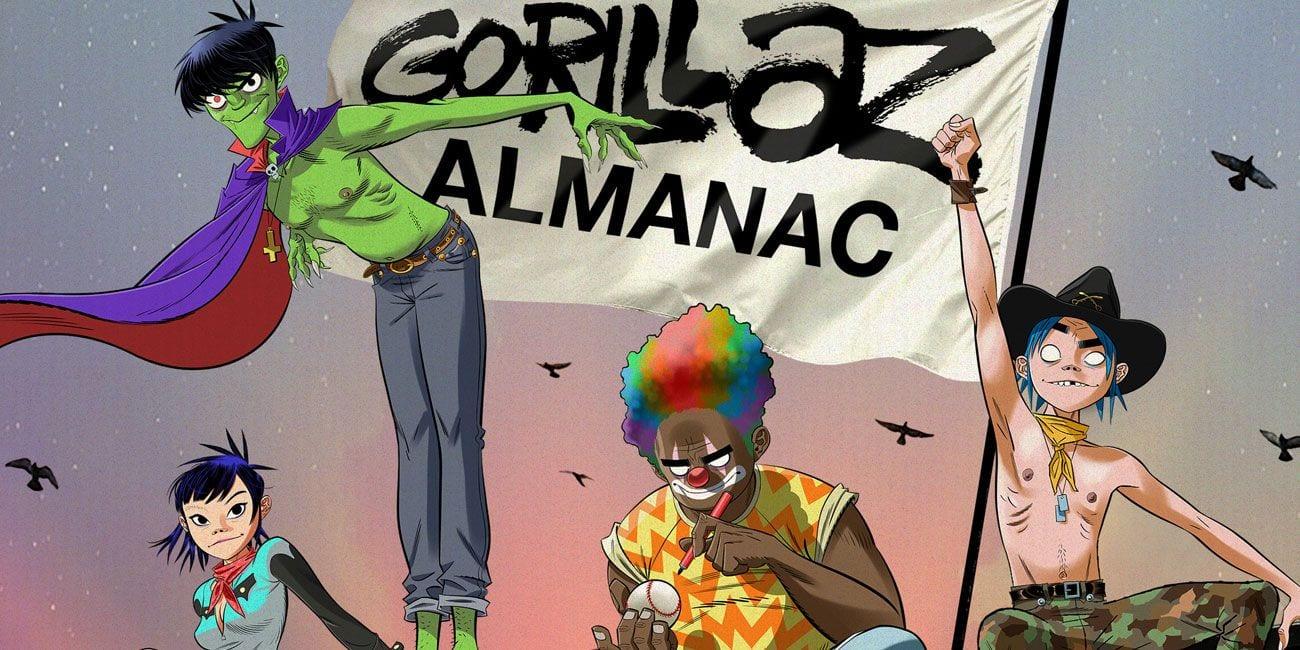 Gorillaz estrena la primera tira cómica en almanaque de tapa dura