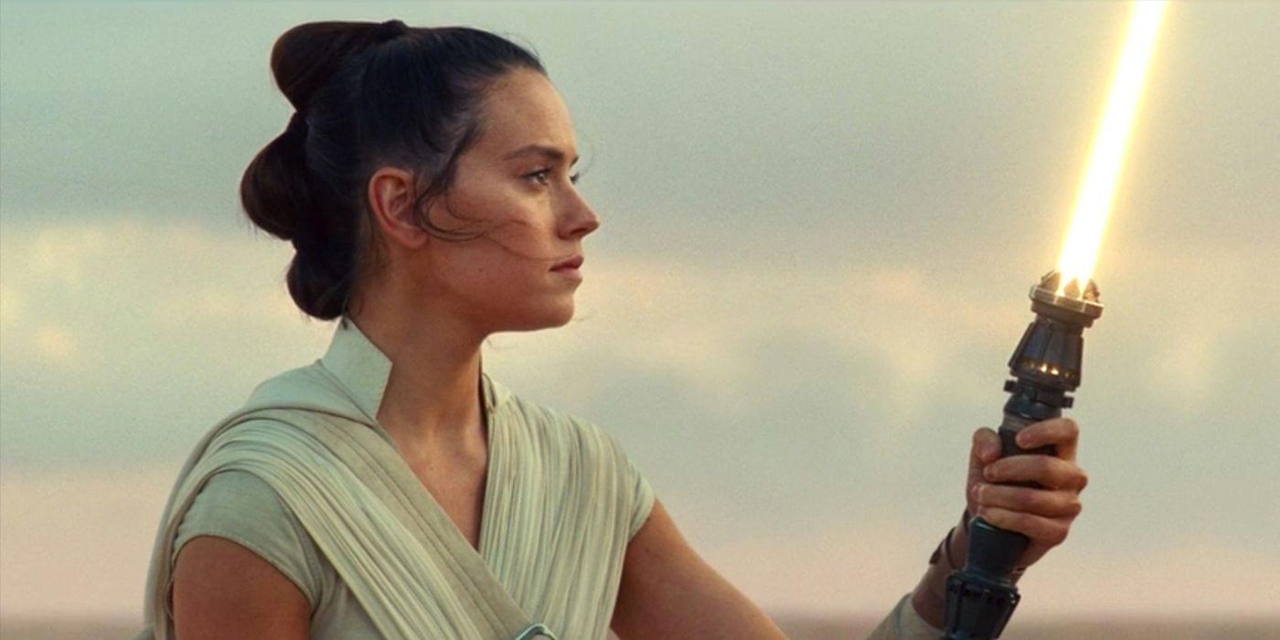 La animación conceptual de Star Wars muestra el cristal amarillo de Kyber en el sable de luz de Rey